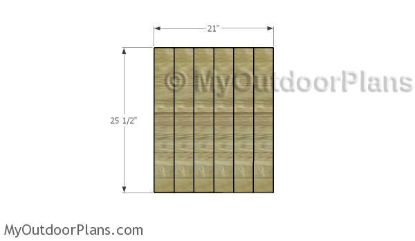 Building the door panel