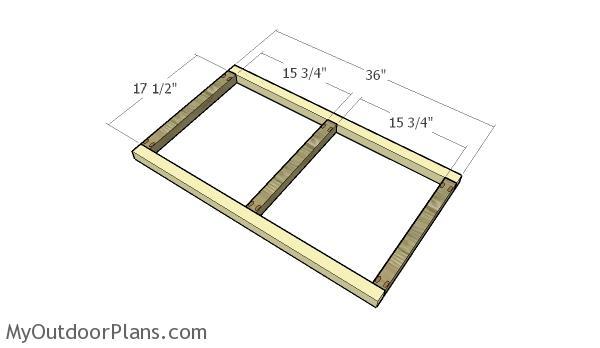 Building the frame of the backrest