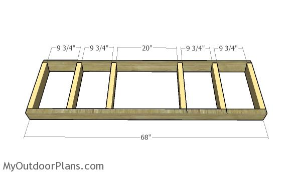 Building the frame of the bench