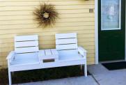 DIY Cedar Bench with Table