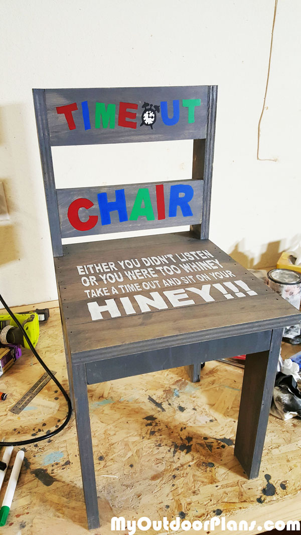 DIY Child's Time-Out Chair