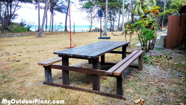 Diy Picnic Table With Benches Myoutdoorplans Free