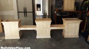 DIY Planter Bench With Storage