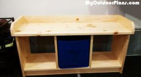 DIY Small Entryway Bench