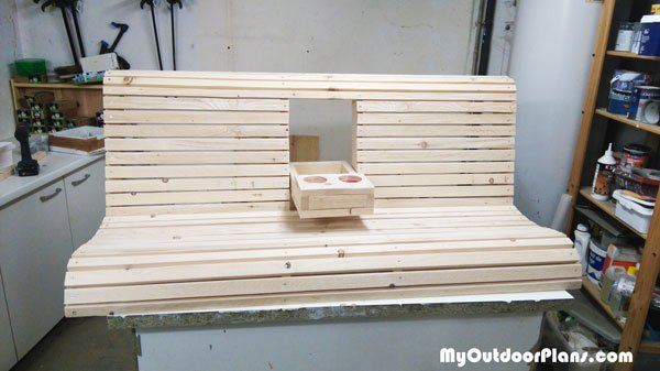 DIY Swing Bench with Center Console