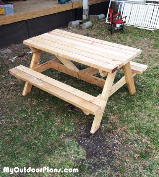 DIY Wood Kids Picnic Table MyOutdoorPlans Free Woodworking Plans And Proj