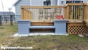 DIY Wood Planter Bench
