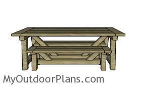 DIY farmhouse bench plans