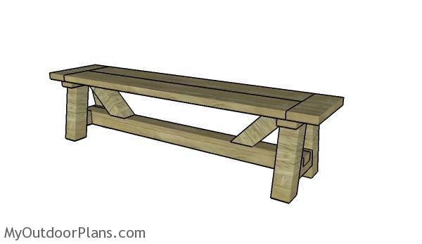 DIY Farmhouse Bench Plans