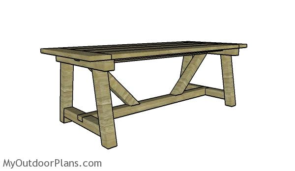 Farmhouse dining table plans