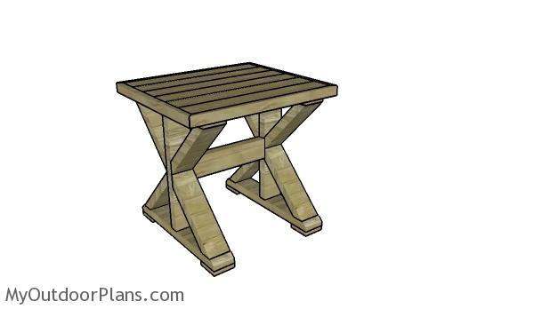 Farmhouse Side Table Plans | MyOutdoorPlans | Free ...