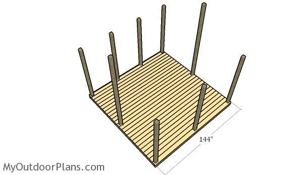 Screened gazebo plans myoutdoorplans free woodworking for Garden decking fitters