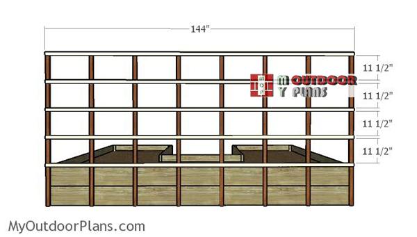 Fitting-the-horizontal-trellis-slats