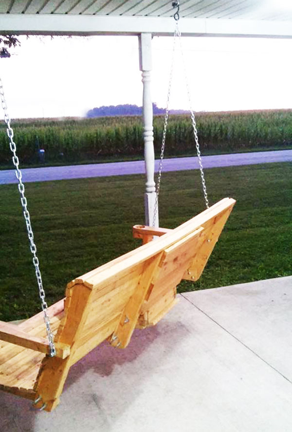 Fitting-the-porch-swing-into-place