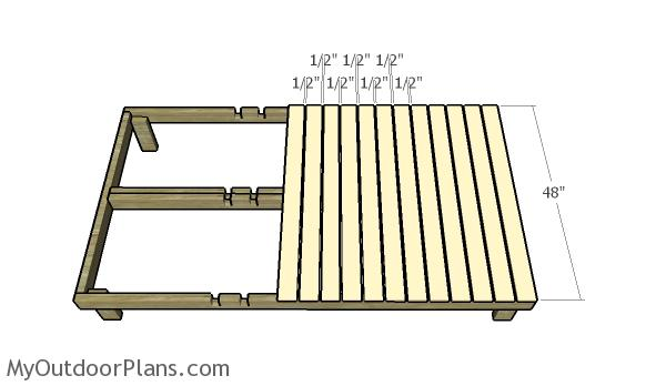 Fitting the slats