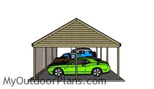 How to build a 3 car carport