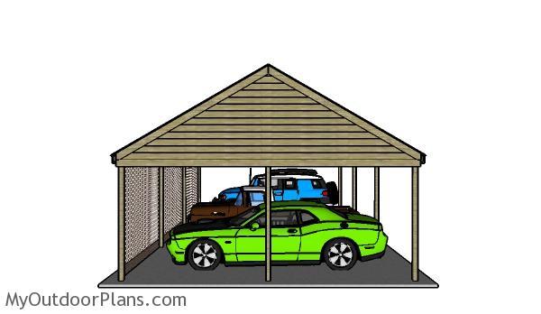 How to build a 3 car carport
