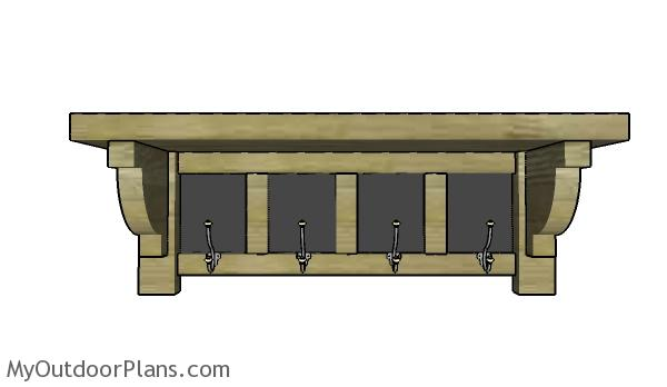 How to build a chalkboard coat rack