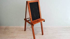 DIY Chalkboard Easel For Kids