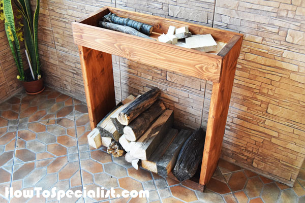 DIY Indoor Firewood Rack