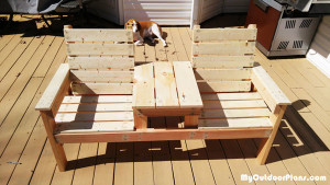 How-to-build-outdoor-furniture---Double-chair-bench-plans
