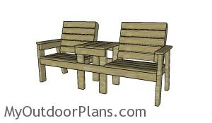 Large Double chair bench plans
