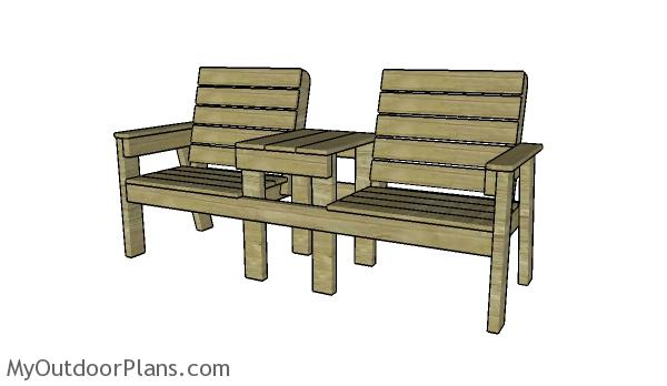 Stupendous Large Double Chair Bench Plans Myoutdoorplans Free Short Links Chair Design For Home Short Linksinfo