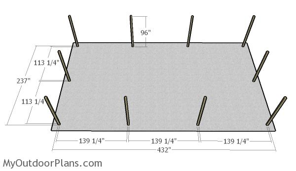 3 car carport plans myoutdoorplans free woodworking for Single car carport dimensions
