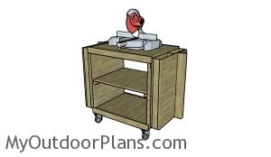 Miter Saw Stand Plans - Folded