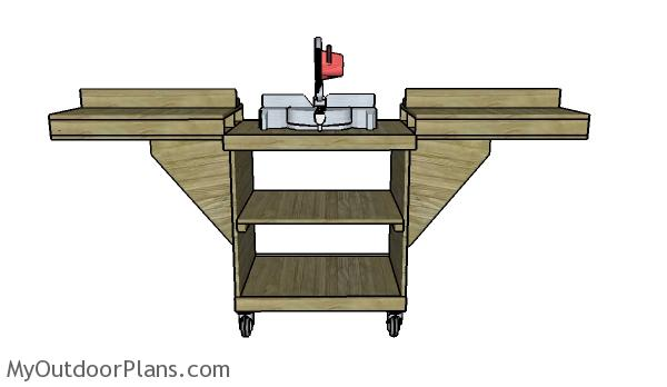 Miter Saw Stand Plans | MyOutdoorPlans | Free Woodworking Plans and ...
