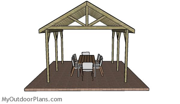 12×14 Outdoor Shelter Plans
