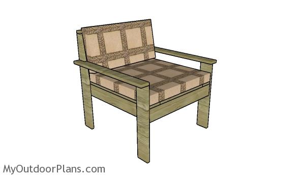 Outdoor Sectional - Chair Plans