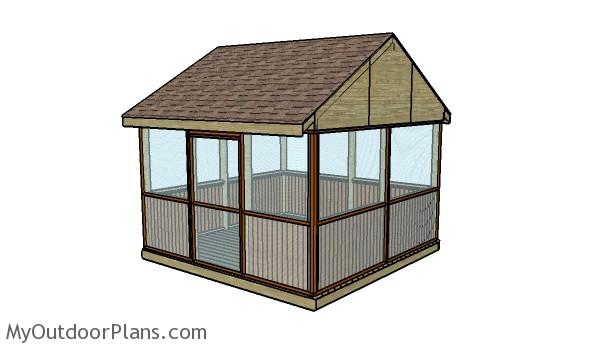 Screened Gazebo Plans Myoutdoorplans Free Woodworking