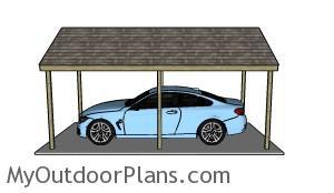 Single car carport plans