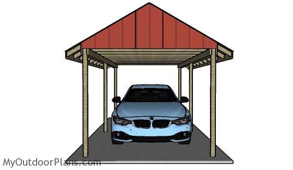 simple carport plans myoutdoorplans free woodworking plans and projects diy shed wooden. Black Bedroom Furniture Sets. Home Design Ideas