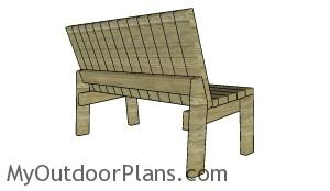 The back of the garden bench