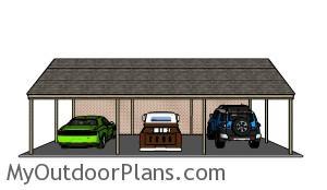 Triple carport plans