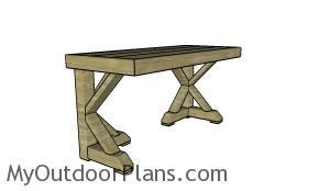 Wooden desk plans