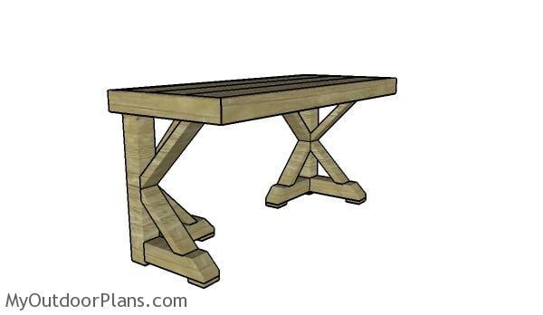 Trestle Desk Plans Myoutdoorplans Free Woodworking Plans And
