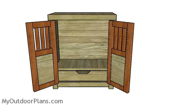 18 doll armoire plans myoutdoorplans free woodworking. Black Bedroom Furniture Sets. Home Design Ideas
