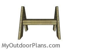 A frame bench plans