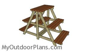 A-frame plant stand plans MOP