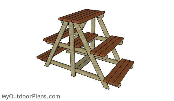 Large Plant Stand Plans Myoutdoorplans Free