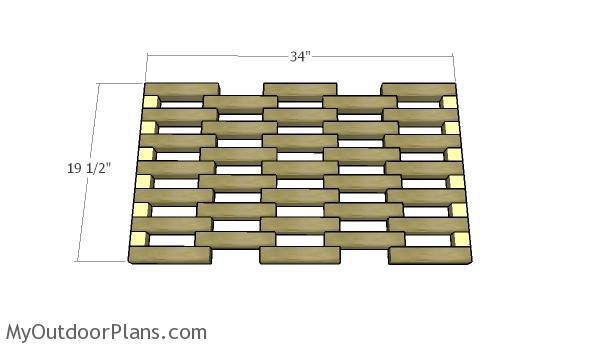 Assembling the doormat