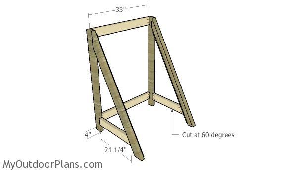 Assembling the trellis frame