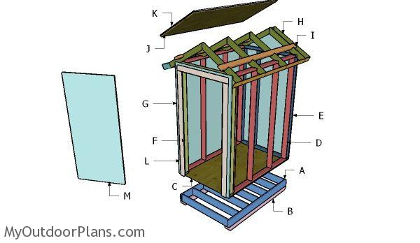 4x6 Gable Shed Roof Plans | MyOutdoorPlans | Free ...