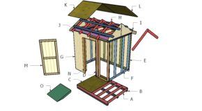 6×8 Gable Shed Roof Plans