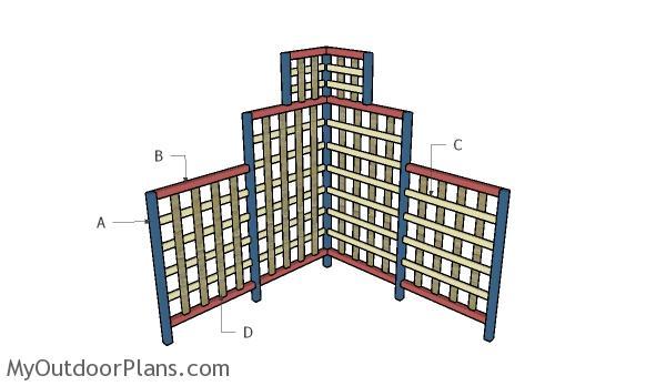 Building a corner trellis