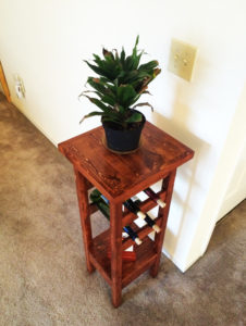 Building-a-plant-stand-with-wine-rack