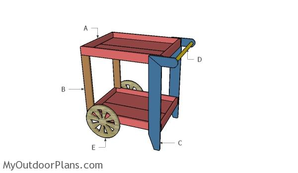 tea cart plans myoutdoorplans free woodworking plans